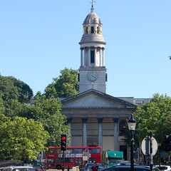 St Marylebone parish church seen from Regents Park