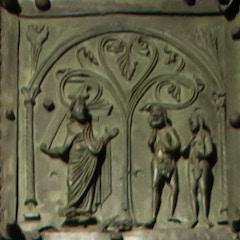 Bronze Door: Adam and Eve