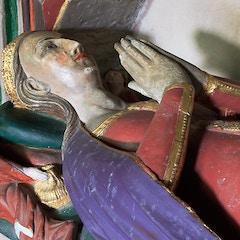 St Mary's church, Burford - monument to Princess Elizabeth (detail)