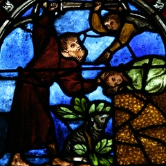 Stained Glass: Abraham and Isaac