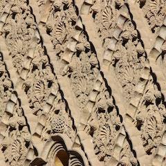 Mudéjar detail, Patio of the Maidens, Alcazar, Sevilla, Spain