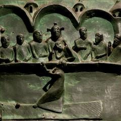 Bronze Door: Last Supper with Revelation of Judas