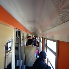 Crowded Train in Morrocco