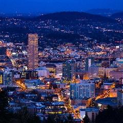 Downtown Portland by Night
