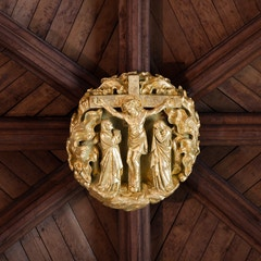Selby Abbey Roof Boss: Crucifixion