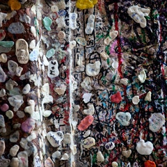 Gum Wall at the House of Juliet