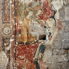 Gothic Mural: Virgin and Child