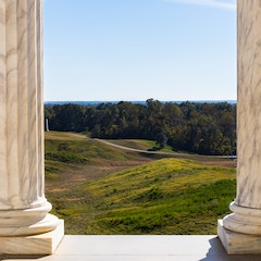 View from Portico, Illinois State Memorial