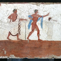 Fresco in the Tomb of the Diver (470 BC)