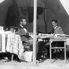 Abraham Lincoln and George B. McClellan at Antietam