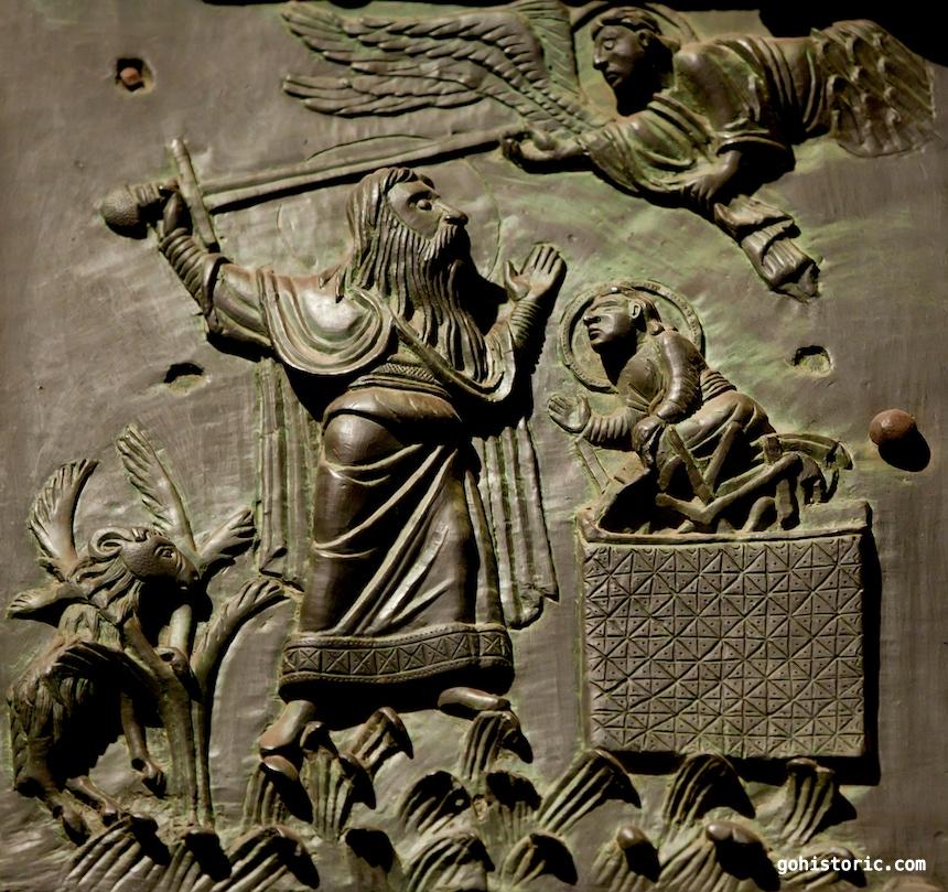 Bronze Door: Abraham and Isaac