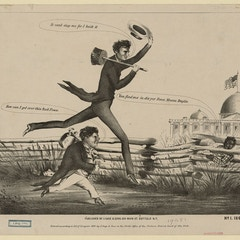 Lincoln & Douglas in a presidential footrace