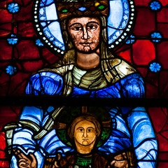 Blue Virgin Window: Detail