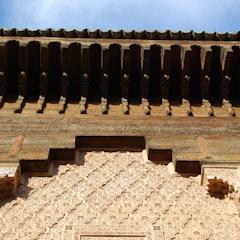 Cedar and Stucco (Ben Youssef Medersa, Marrakesh, Morocco)