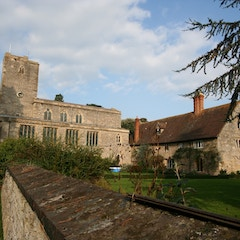 View of St Mary's Priory and Its Adjacent Farmhouse from South