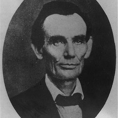 Abraham Lincoln while a traveling lawyer