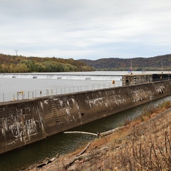 Allegheny River Lock and Dam No. 8 wide