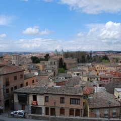 View over Northern City Walls of Toledo from Near Mezquita