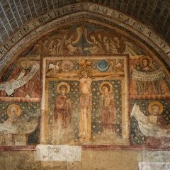 Crucifixion Fresco with Prophets (Le Puy Cathedral, France)