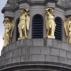 St Marylebone Parish Church, Marylebone Road - golden angel sculpture statues