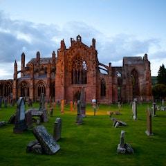 Melrose Abbey Ruins at Dusk (Melrose, Scotland)