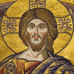 Ceiling Mosaic: Christ in Majesty (Detail)