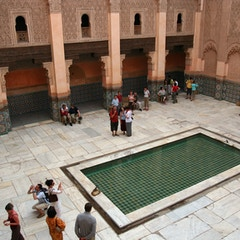 Courtyard from Above (Ben Youssef Medersa, Marrakesh, Morocco)