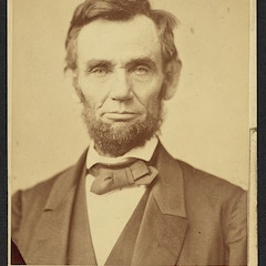 """""""Gettysburg Portrait"""" of Abraham Lincoln on cabinet card"""