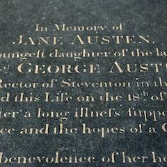 Grave of Jane Austen (Detail)