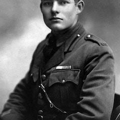 Portrait of Ernest Hemingway in Milan (1918)