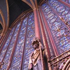 The upper chapel of Sainte Chapelle