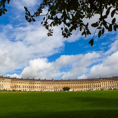 Royal Crescent with Tree (Bath, England)