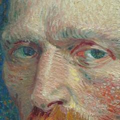 Van Gogh - Self portrait, closeup