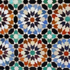 Mosaic Tile Detail (Ben Youssef Medersa, Marrakesh, Morocco)