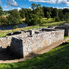 Bath House and River (Chesters Roman Fort, Hadrian's Wall, England)