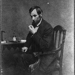 Abraham Lincoln in a reflective pose