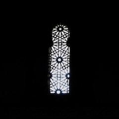 Beautifully Designed Windows in North Wall of Prayer Hall