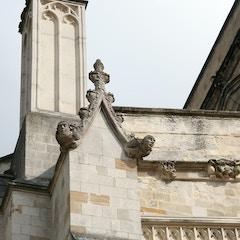West Facade Detail with Gargoyles