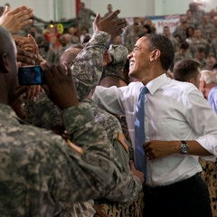 Meeting the Troops at Fort Campbell