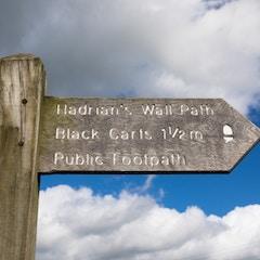 Hadrian's Wall Path: Public Footpath Sign