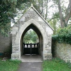 Lych gate, St Mary's Church, Cogges, Witney