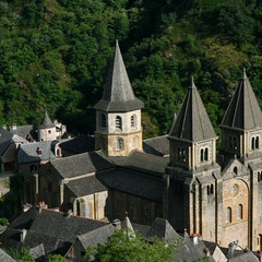 Conques Abbey from Above