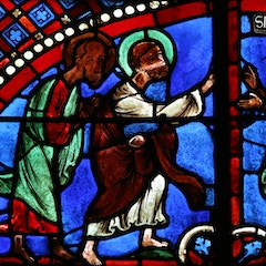 Peter and Paul Window: Dispute with Simon Magus
