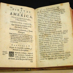 Piratas de la America - Pirates of America - Antique Book in General Archive of the Indies - Seville