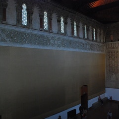 View of North Wall of Prayer Hall from Women's Gallery Above