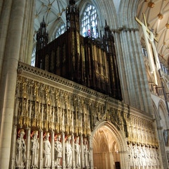 Looking to Entrance and South Transept at Organ and Choir Screen