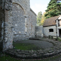 Foundations of 9th-Century Apse on East End