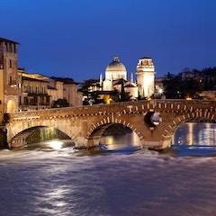 Verona and the Ponte Pietra by Night