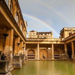 Rainbow at the Roman Baths (Bath, England)