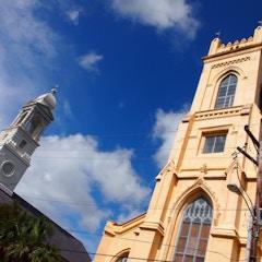 Lutheran and Unitarian Church in Charleston (South Carolina, USA 2012)